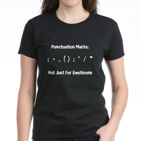 emoticons grammar punctuation shirt
