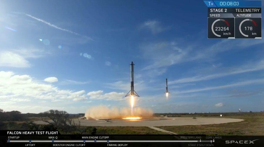 SpaceX confirma que han perdido el núcleo central del Falcon Heavy