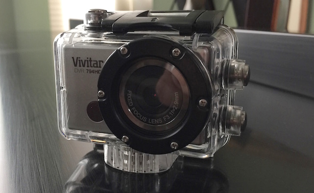 Vivitar DVR794HD in waterproof enclosure
