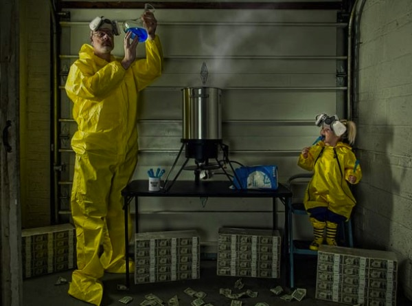 funny dads, best dads, father daughter meth lab