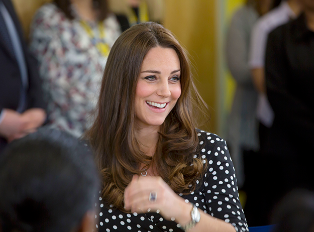Princess in polka dots! Kate wears $60 dress from ASOS, talks about her due date