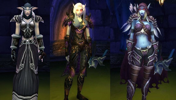 Sylvanas models through the years