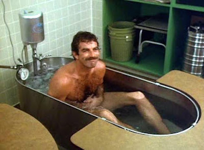 Was Tom Selleck Constantly Hiding An Erection On Magnum, P.I.?, tom selleck hot tub
