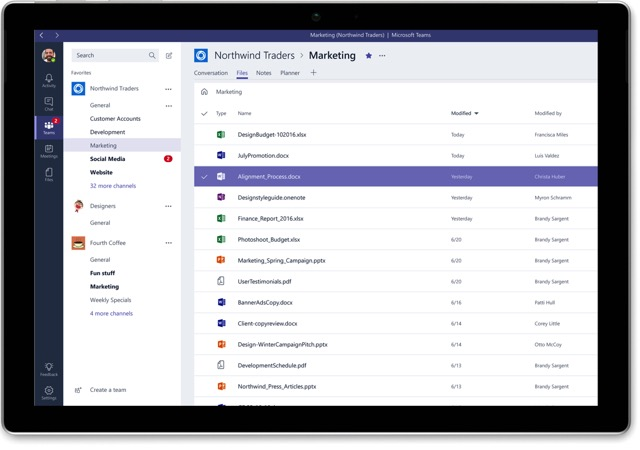 Teams: Microsofts Slack-Alternative geht nächste Woche an den Start