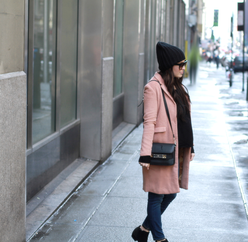 Street style tip of the day: Downtown blush