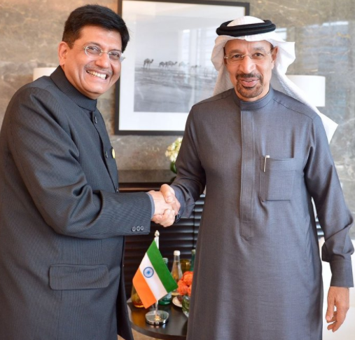 Indian flag seen upside down during Piyush Goyal's visit to Abu Dhabi