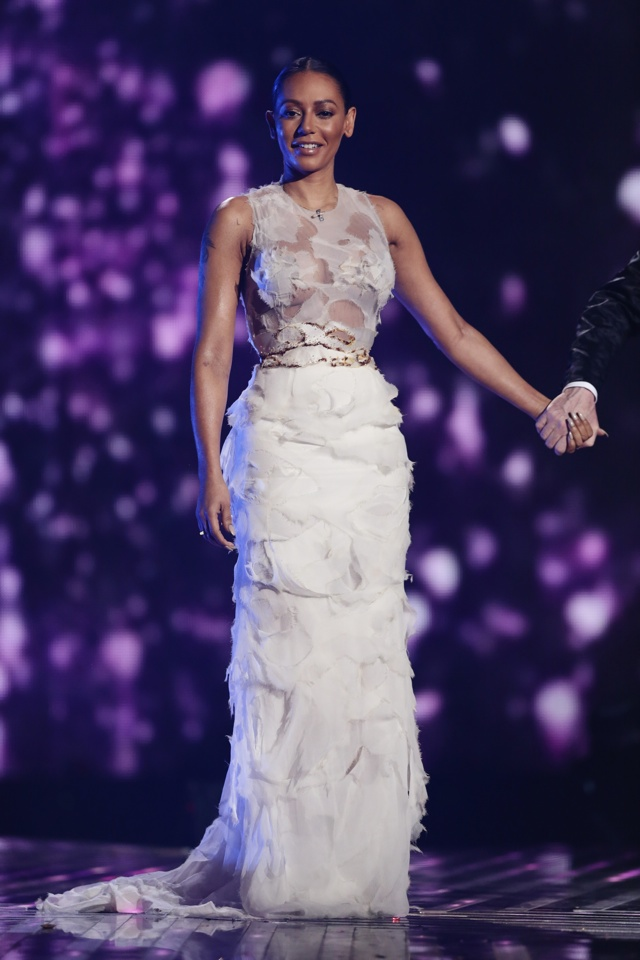 Cheryl and Mel both wow in statement gowns for The X Factor final