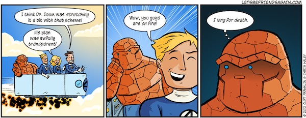 superheroes being super a-holes, superheroes being jerks funny, fantastic four puns comic