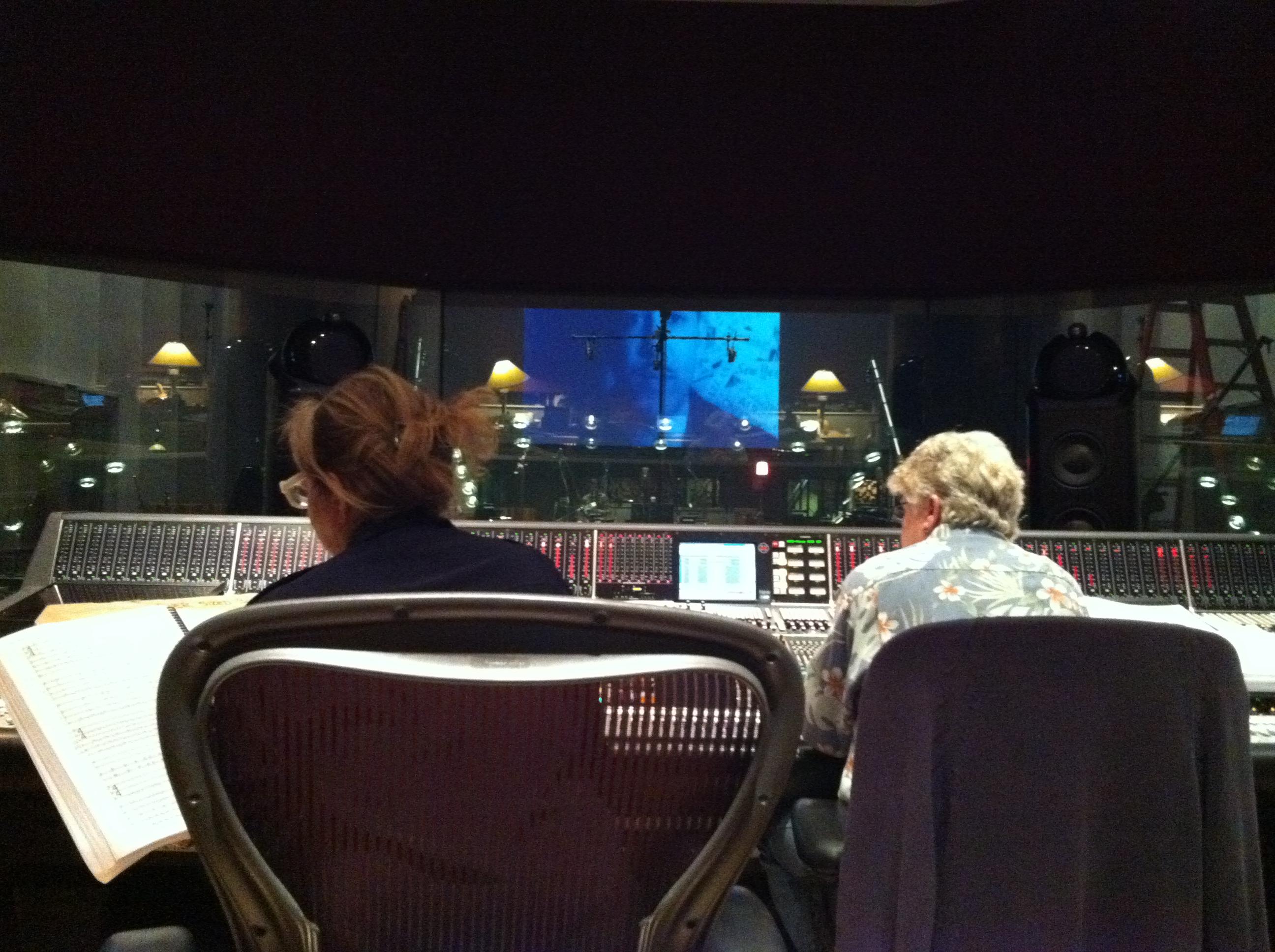 Laura Karpman and Leslie Ann Jones at Skywalker Sound.