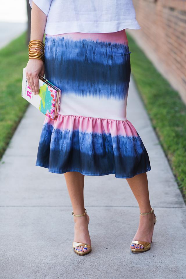 asos color pop peplum skirt
