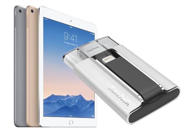 Omaggio di Engadget: vinca un'aria 2 del iPad e la cortesia dell'azionamento del iXpand del SanDisk!