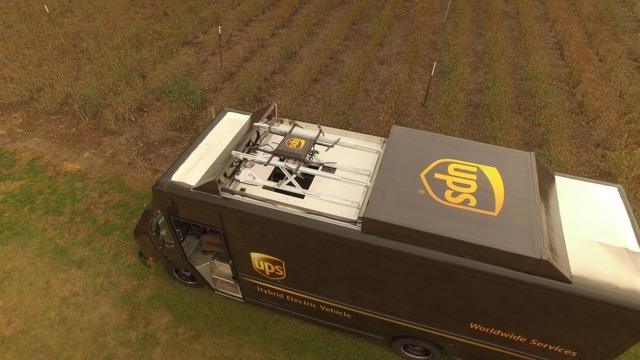 UPS macht aus dem Lieferwagen einen mobilen Drohnen-Träger