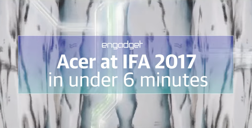 Zusammenschnitt: Acer-Keynote auf der IFA in unter 6 Minuten