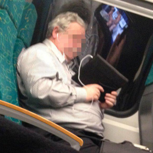 watching porn in public, porn on cellphone, busted watching porn