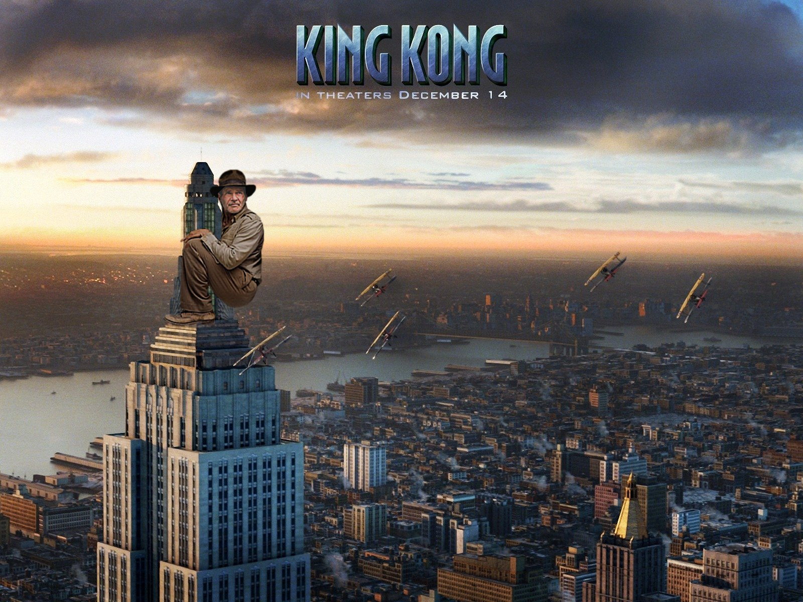 indiana jones fridge pose photoshop battle, indiana jones king kong