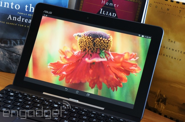 ASUS Transformer Pad TF103C showing a flower