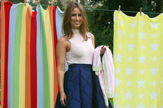 Rachel Stevens urges parents to donate a baby blanket to charity