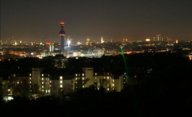 Researchers twist lasers to beam data across Vienna