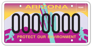 State of az environmental license plate