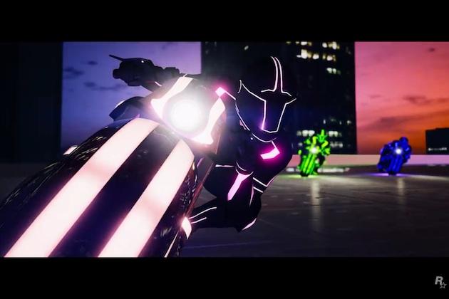 【ビデオ】人気ゲーム『グランド・セフト・オート』の新たな敵対モードに、映画『トロン』のようなライトサイクルが登場