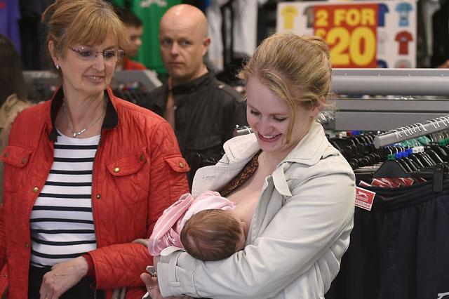 Breastfeeding protests