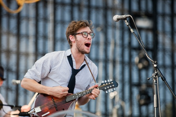 INDIO, CA - APRIL 21: Ben Wahamaki of The Lumineers performs on stage at 2013 Coachella Music Festival on April 21, 2013 in Indio, California. (Photo by Helen Boast/Redferns via Getty Images)