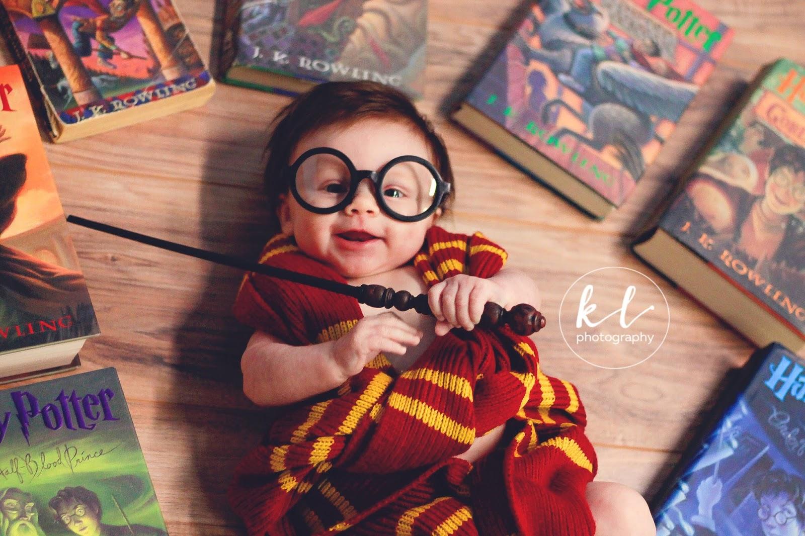 harry potter, baby, photo shoot, kayla glover, kayla layla photography