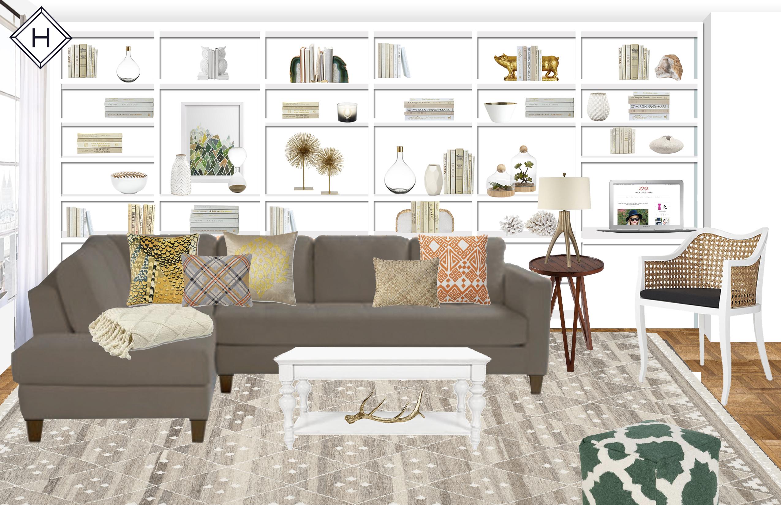 Havenly virtual interior design rendering