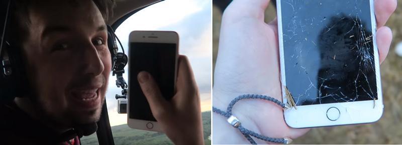 iPhone7をヘリから落下させたら・・・ ある耐久テスト動画が話題に
