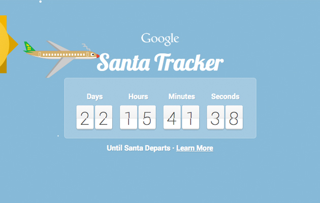 Monitor Santa's pre-flight prep with a little help from Google