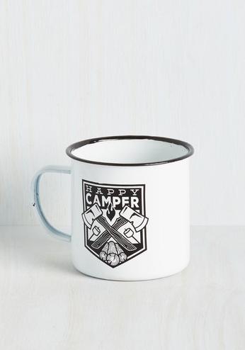 happy camper outdoor camping mug