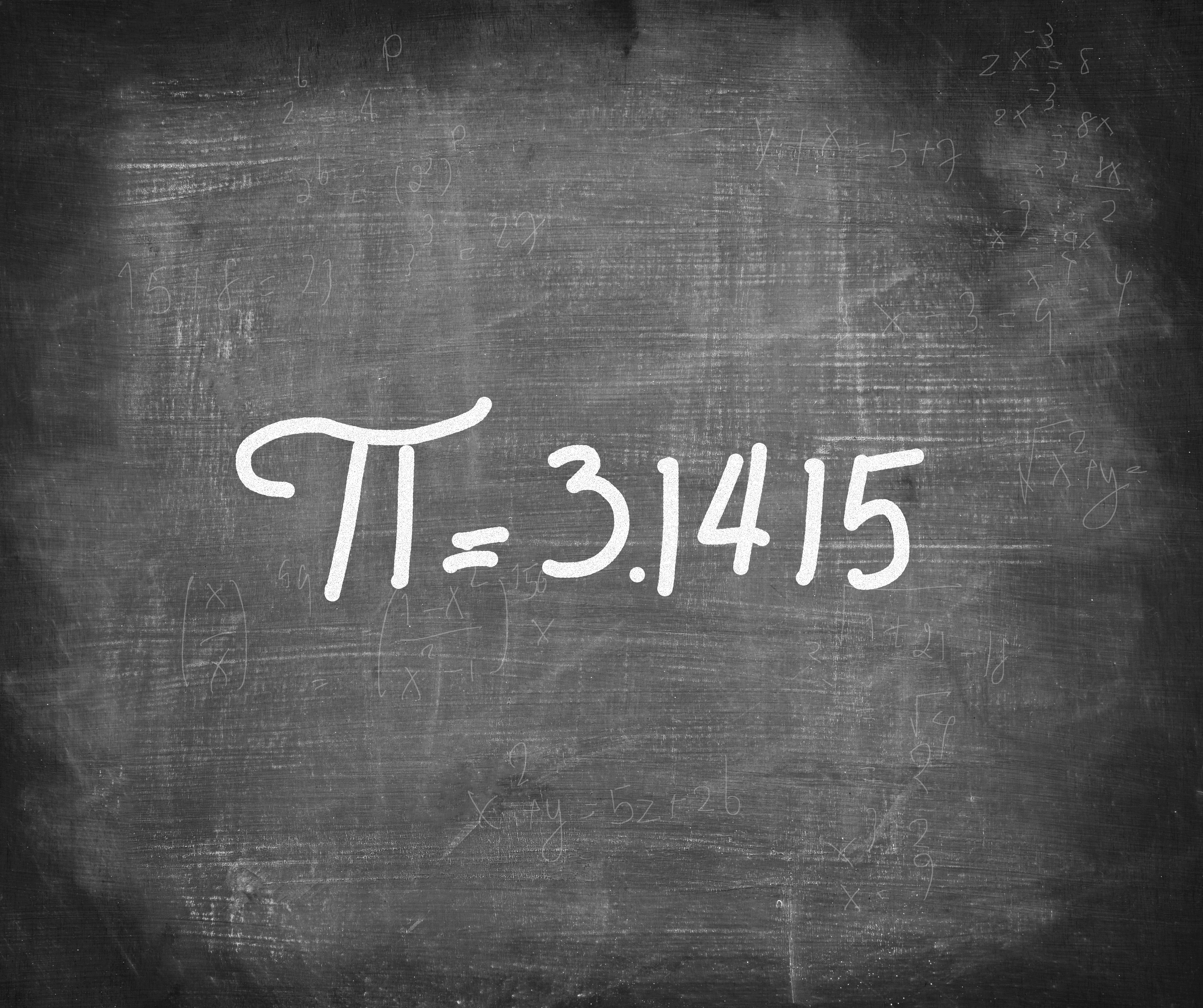 pi number handwritten with...
