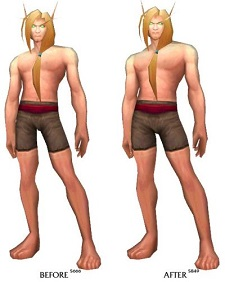 Blood elves before and after