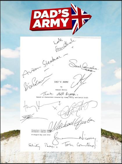 Signed page of the Dad's Army script