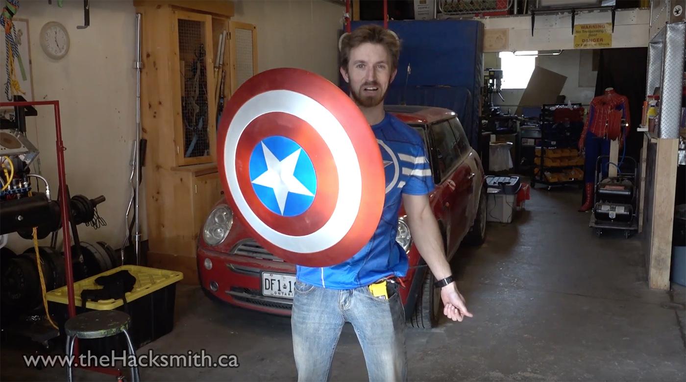 Crean el escudo magnético del Capitán América con ayuda de... imanes