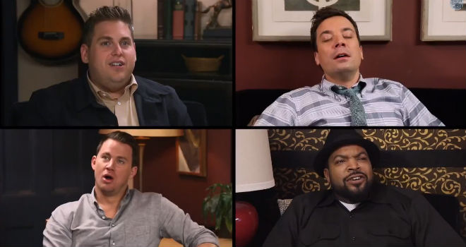 Sup With 22 Jump Street Cast on Jimmy Fallon