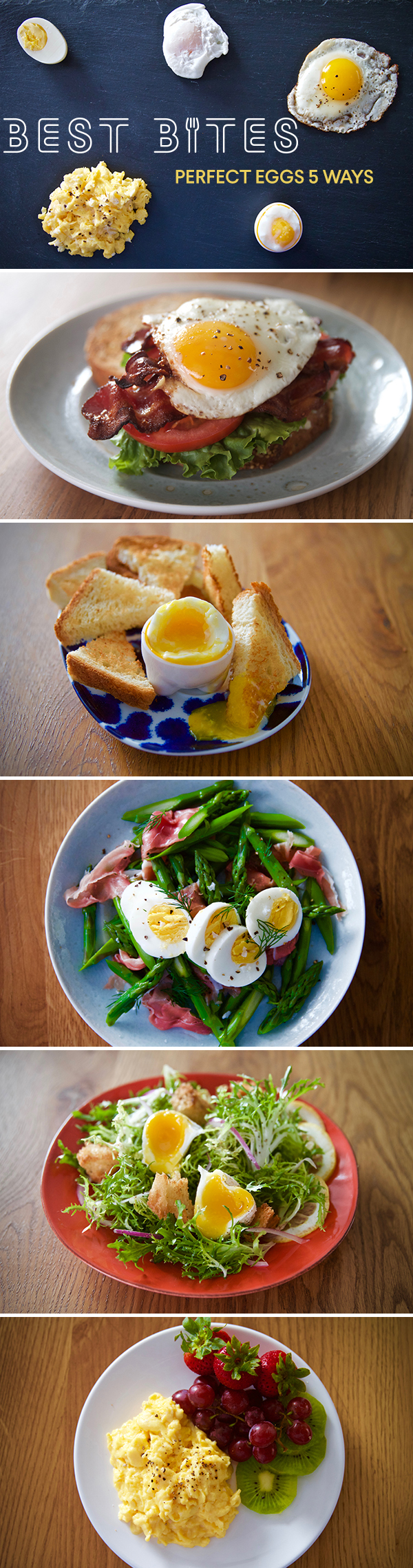 Cook perfect eggs 5 ways