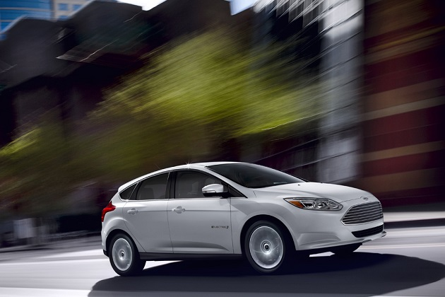 **Embargoed until 2:01 p.m. EST on Friday, Jan. 7, 2011** Ford Focus Electric: The all-new Ford Focus Electric is a zero-CO2-emissions, gasoline-free version of Ford's popular small car and is the flagship of the company's growing fleet of hybrid, plug-in hybrid and all-electric vehicles coming to North America and Europe by 2013. (01/07/2011)