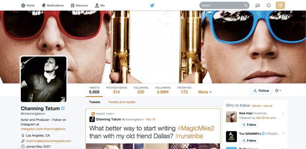 Twitter's new profile design kinda looks like Facebook