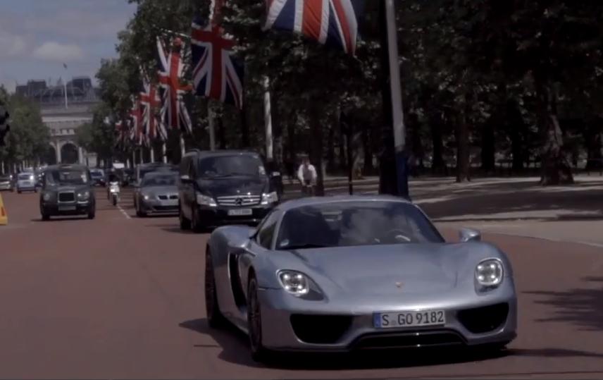 porsche 918 spyder london video