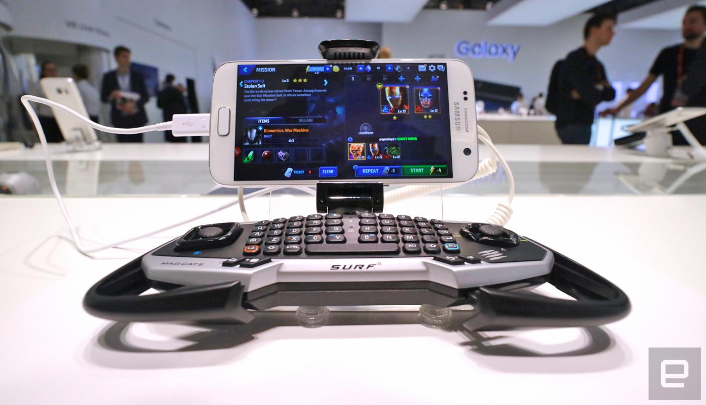 Mad Catz ya tiene un mando híbrido para los Galaxy S7 y S7 edge