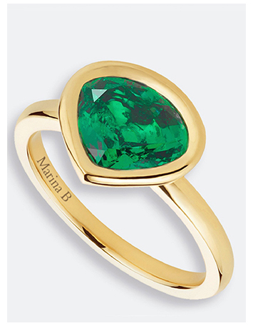Mila Kunis Gemfields Motherhood Ring
