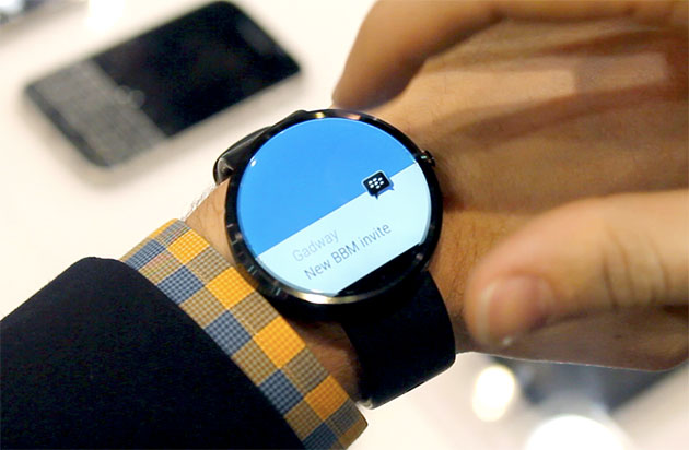 BlackBerry will invade your wrist by bringing BBM to Android Wear