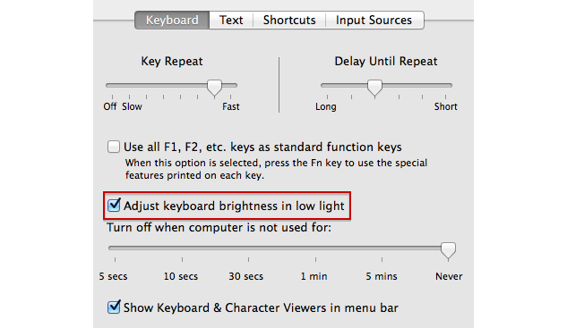 Brightness Keyboard