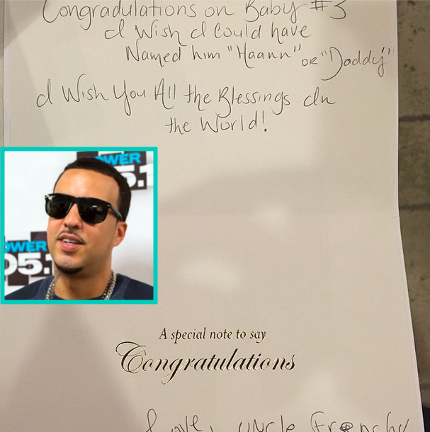 french montana sends kourtney kardashian and scott disick, Birthday card