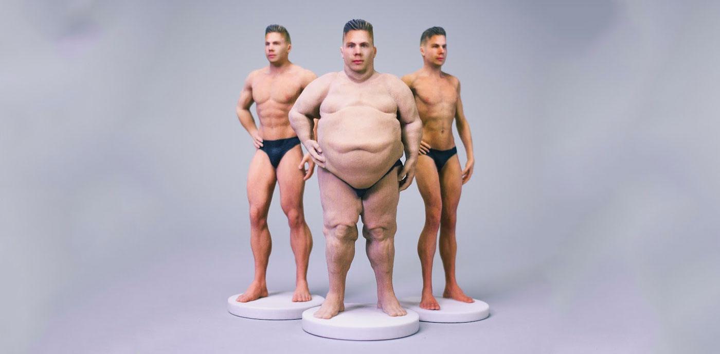 Ahora puedes tener una figurita 3D semidesnuda con tu cara