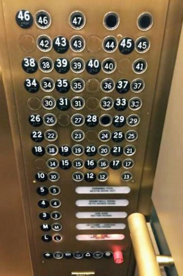 horrible designs, bad design ideas, designs that were horrible misfires, confusing elevator buttons
