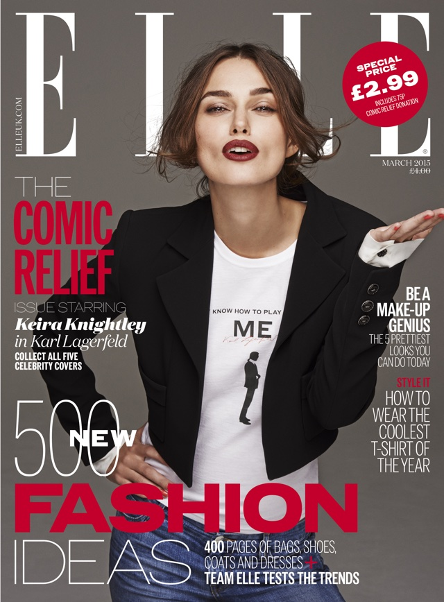 Keira Knightley, Abbey Clancy, Kate Upton, Daisy Lowe and Pixie Geldof ALL star on Elle for Comic Relief