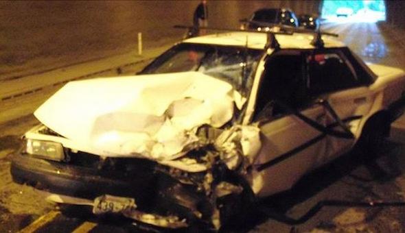Toyota Camry crash
