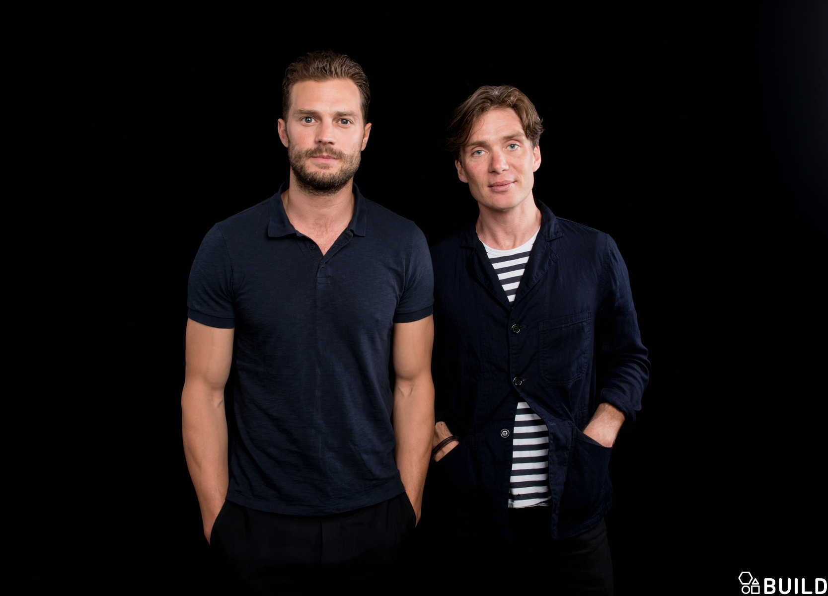 Cillian Murphy, Jamie Dornan and Sean Ellis visit AOL Hq for Build on August 5, 2016 in New York. Photos by Noam Galai